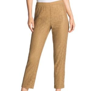Chicos Womens Pansy Pull On Lace Pants